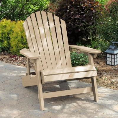 King Hamilton Tuscan Taupe Folding and Reclining Plastic Adirondack Chair