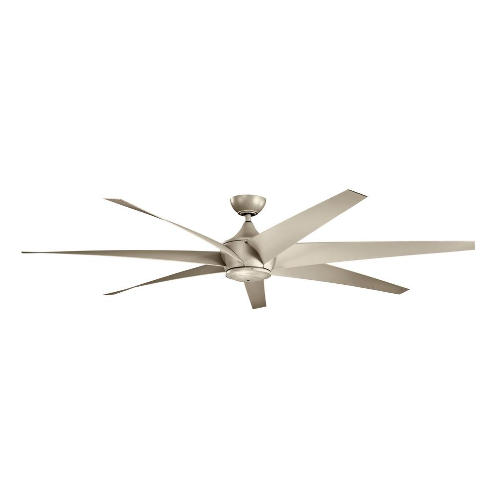 Kichler Lehr 80 In Indoor Outdoor Antique Satin Silver Downrod Mount Ceiling Fan With Wall Control 310115ans The Home Depot