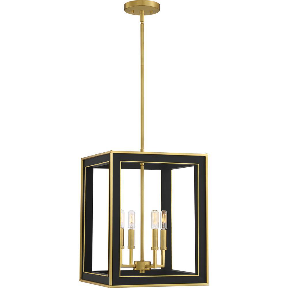 Burwell 4-Light Matte Black Pendant