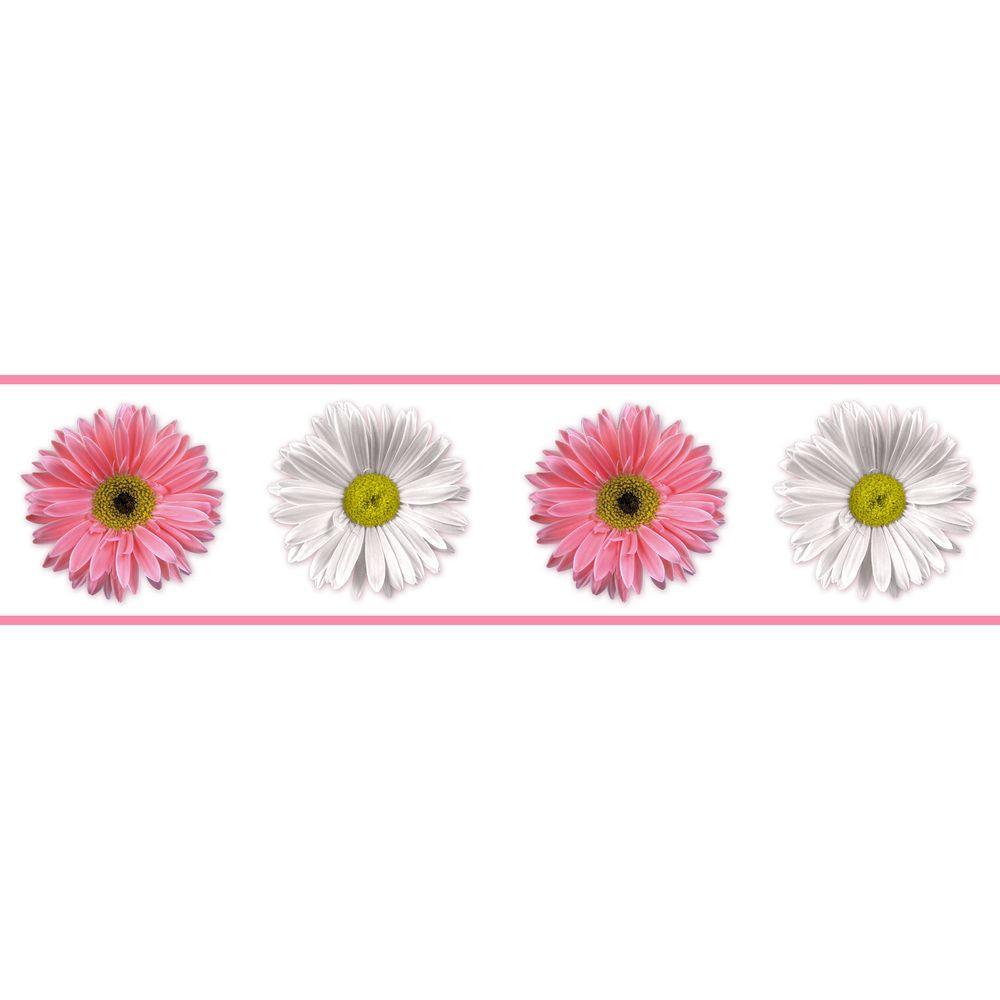 RoomMates Flower Power Peel and Stick Wallpaper Border