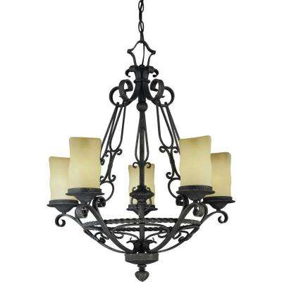 Sevilla 5-Light Antique Iron Interior Chandelier