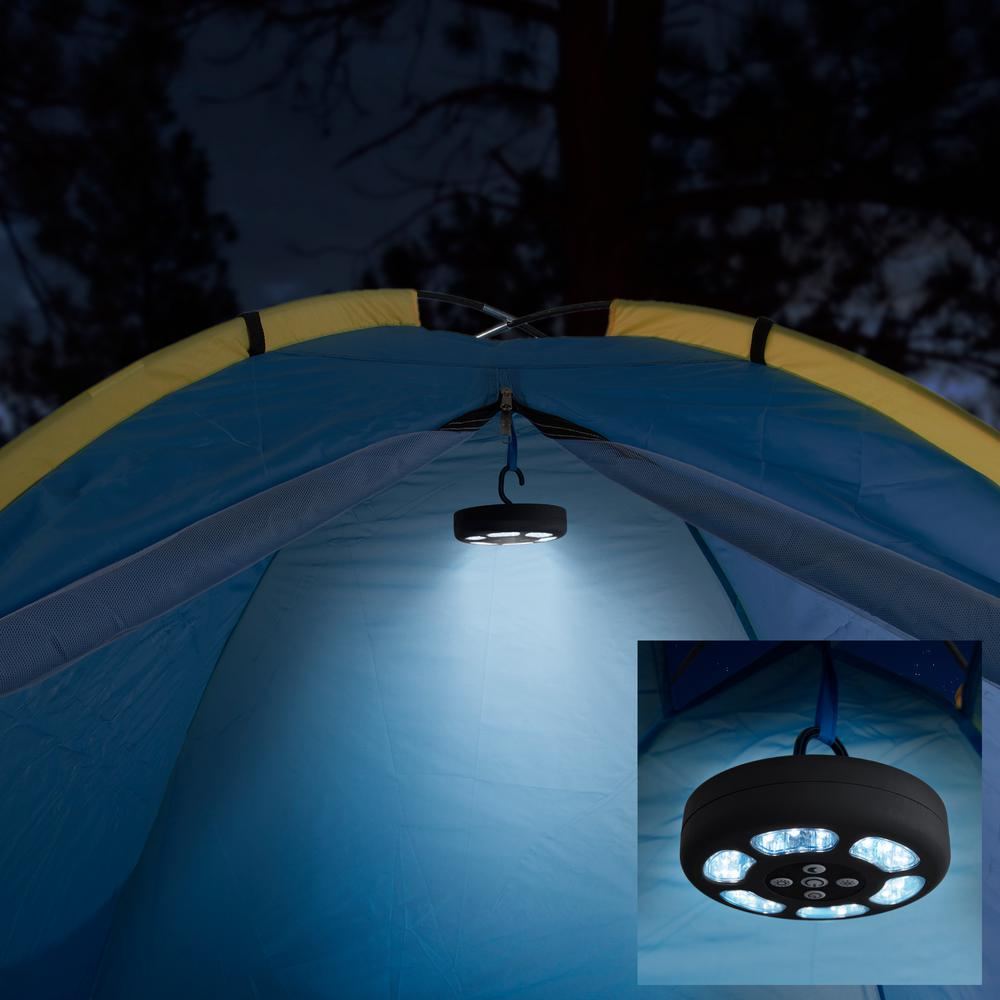 Wakeman Outdoors Round Black Led Camping Tent Light