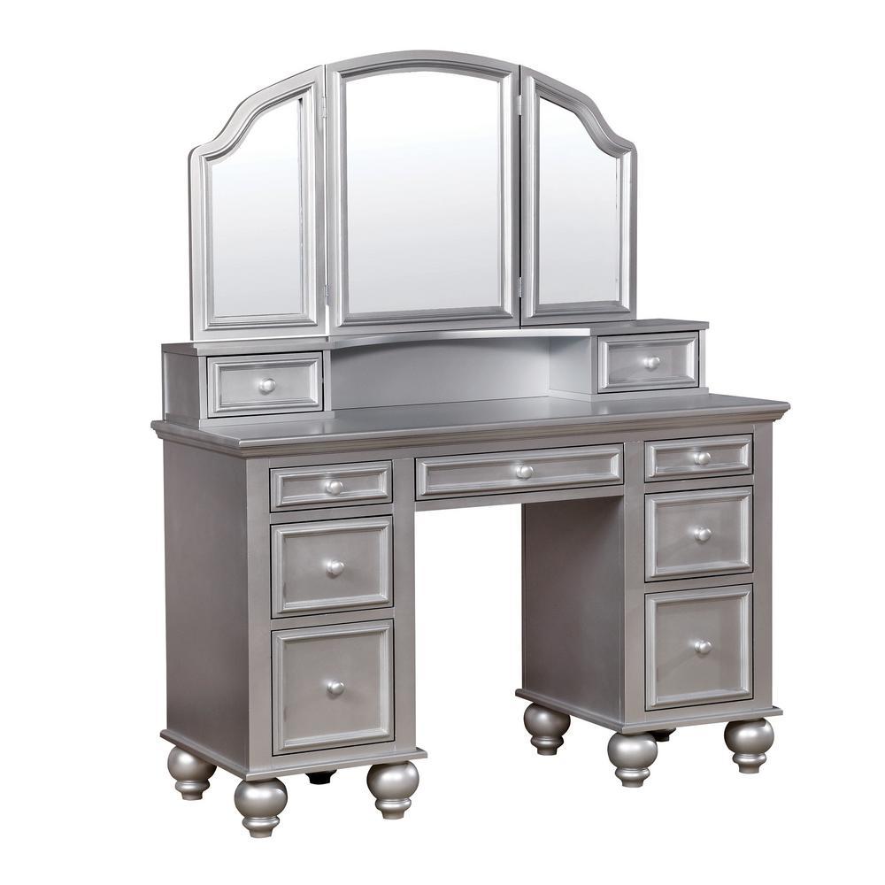 Silver - Makeup Vanities - Bedroom Furniture - The Home Depot