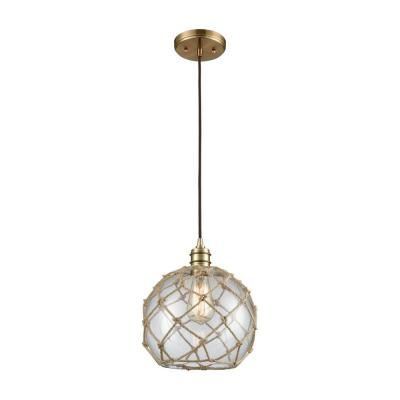 Bastile 1-Light Satin Brass Pendant
