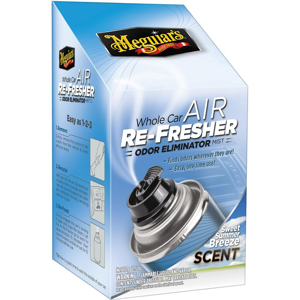 Car Odor Eliminator >> Meguiar S 2 5 Oz Whole Car Air Refresher Odor Eliminator Sweet Summer Breeze Scent