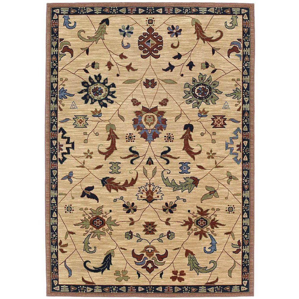 Karastan Preston Beige 5 ft. 7 in. x 7 ft. 11 in. Area Rug