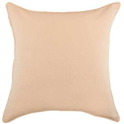 American Colors solid reversible Pillow in Rose Blush