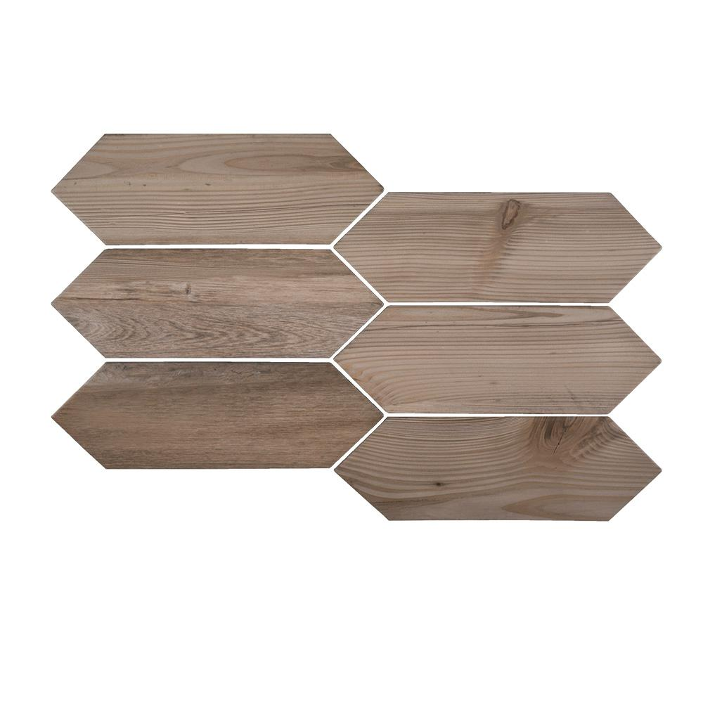Timber Picket 4 in. x 12 in. x 8 mm Porcelain