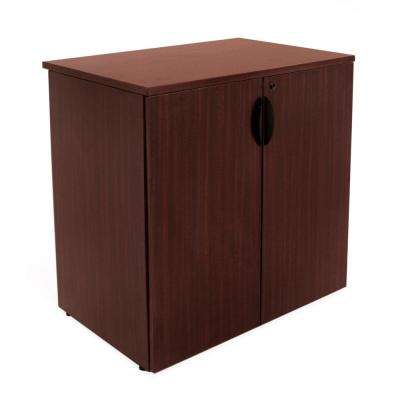 Legacy 35 in. Mahogany Stackable Storage Cabinet