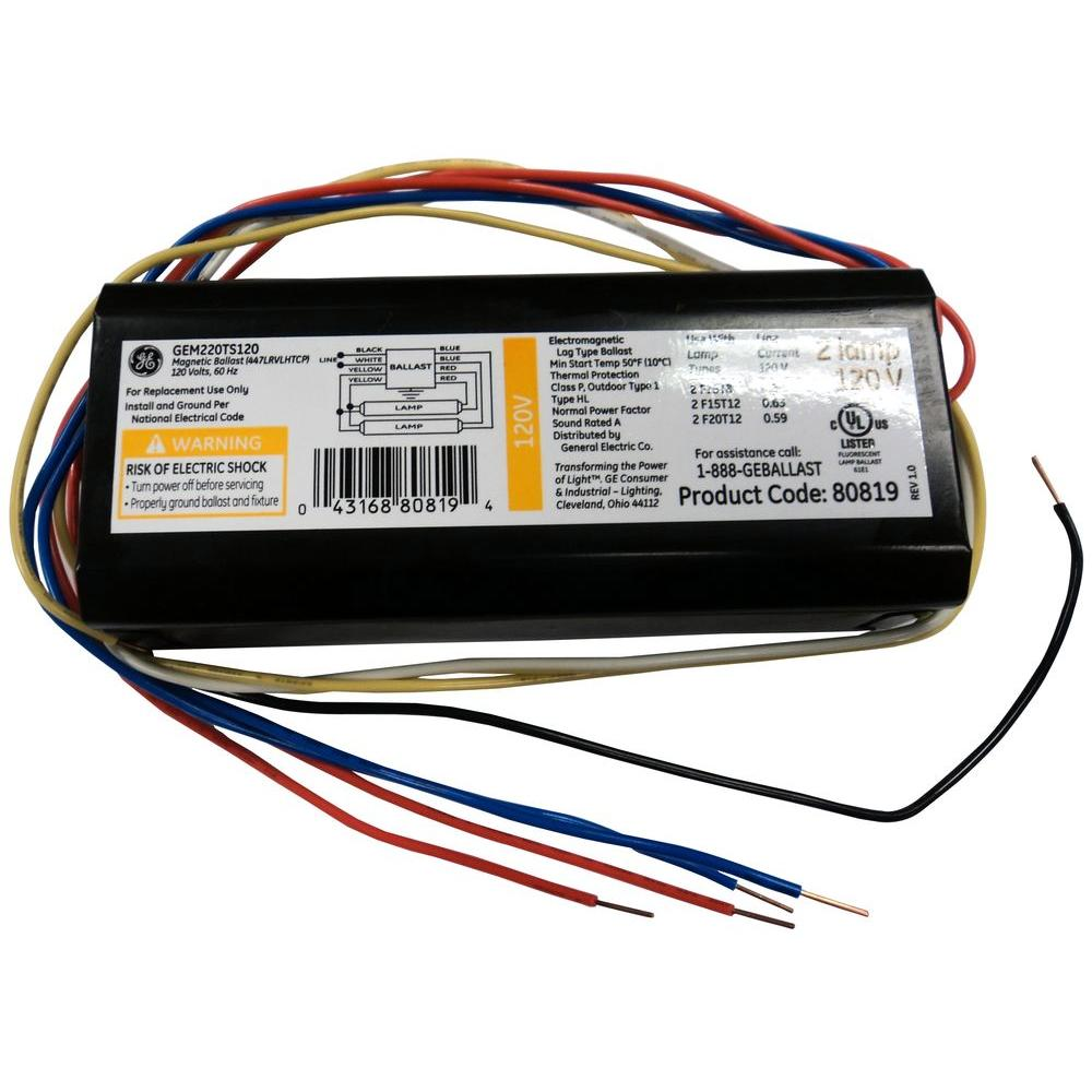 ge replacement ballasts gem220ts120diy 64_1000 ge magnetic trigger start ballast for t12 and t8 lamp f96t8 ballast wiring diagram at mifinder.co