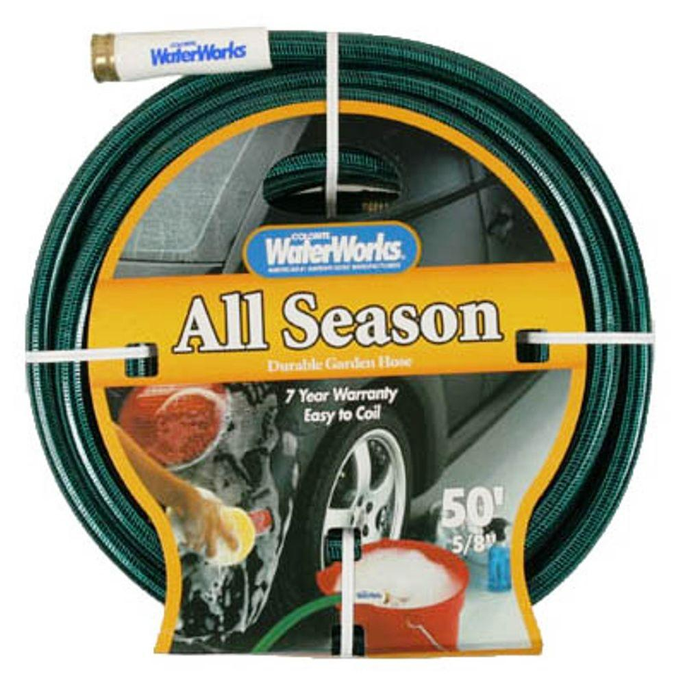 easy flexible garden hose home depot. Reinforced All Seasons Water Hose Colorite 5 8 in  x 50 ft