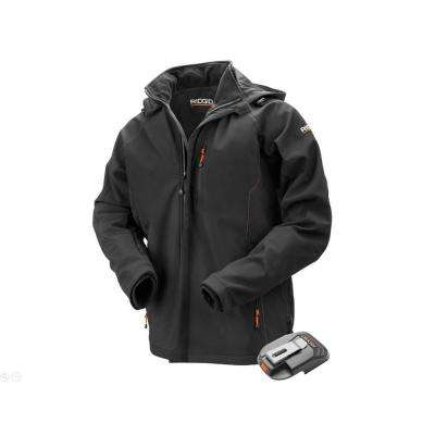 Men's Large Black 18-Volt Lithium-Ion Cordless Heated Jacket (Battery Not Included)