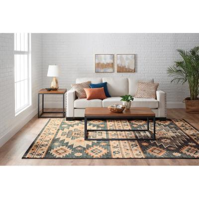 Zadora Multi 2 ft. x 3 ft. Medallion Scatter Area Rug
