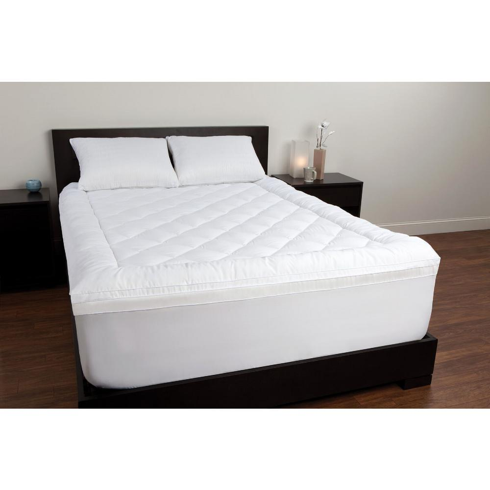 sealy twin memory foam mattress topper f02 00035 tw0 the home depot. Black Bedroom Furniture Sets. Home Design Ideas