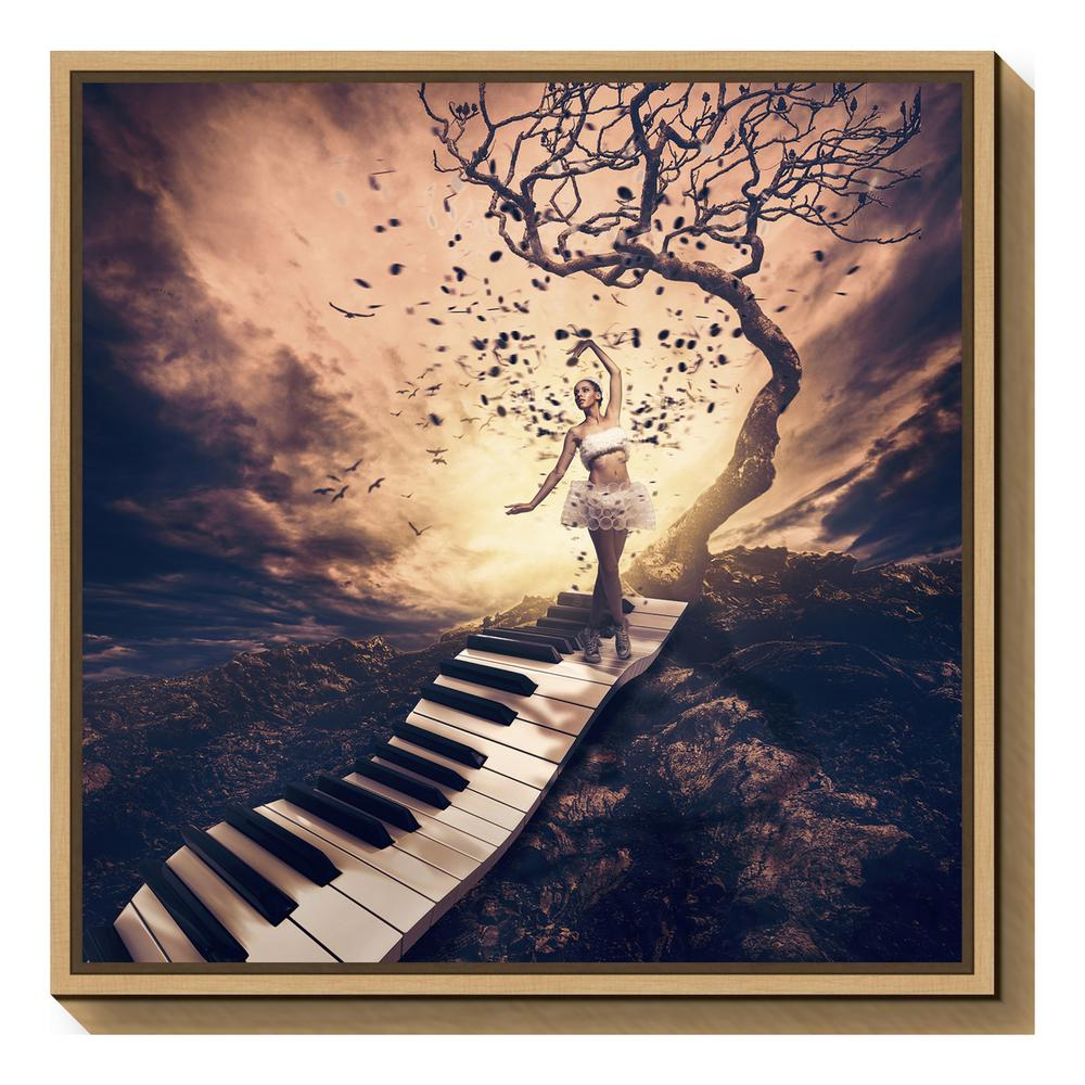 """Rhapsody"" by Jackson Carvalho Framed Canvas Wall Art"