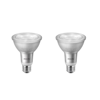 75-Watt Equivalent PAR30L Dimmable LED Flood Light Bulb with Warm Glow Dimming Effect Bright White (3000K) (2-Pack)