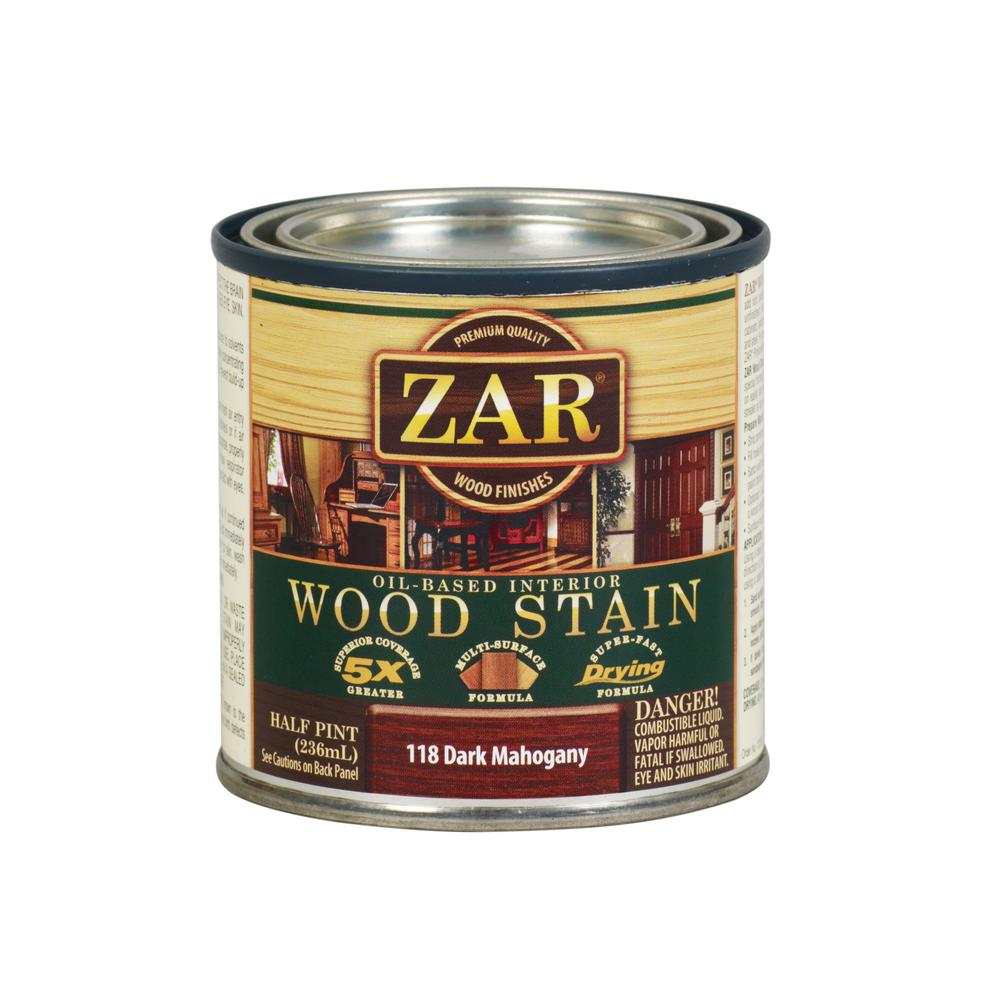 Zar 118 8 Oz Dark Mahogany Wood Interior Stain 2 Pack