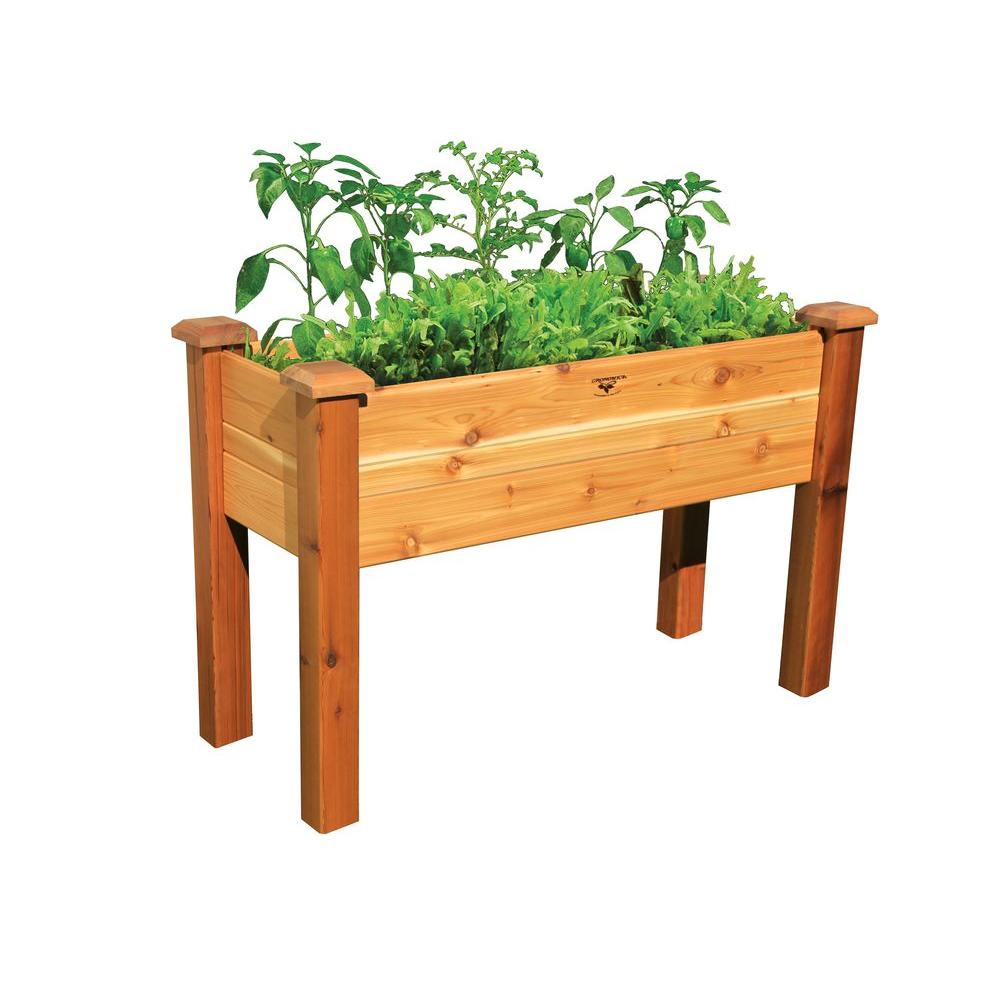48 in. x 18 in. Safe Finish Cedar Elevated Garden Bed