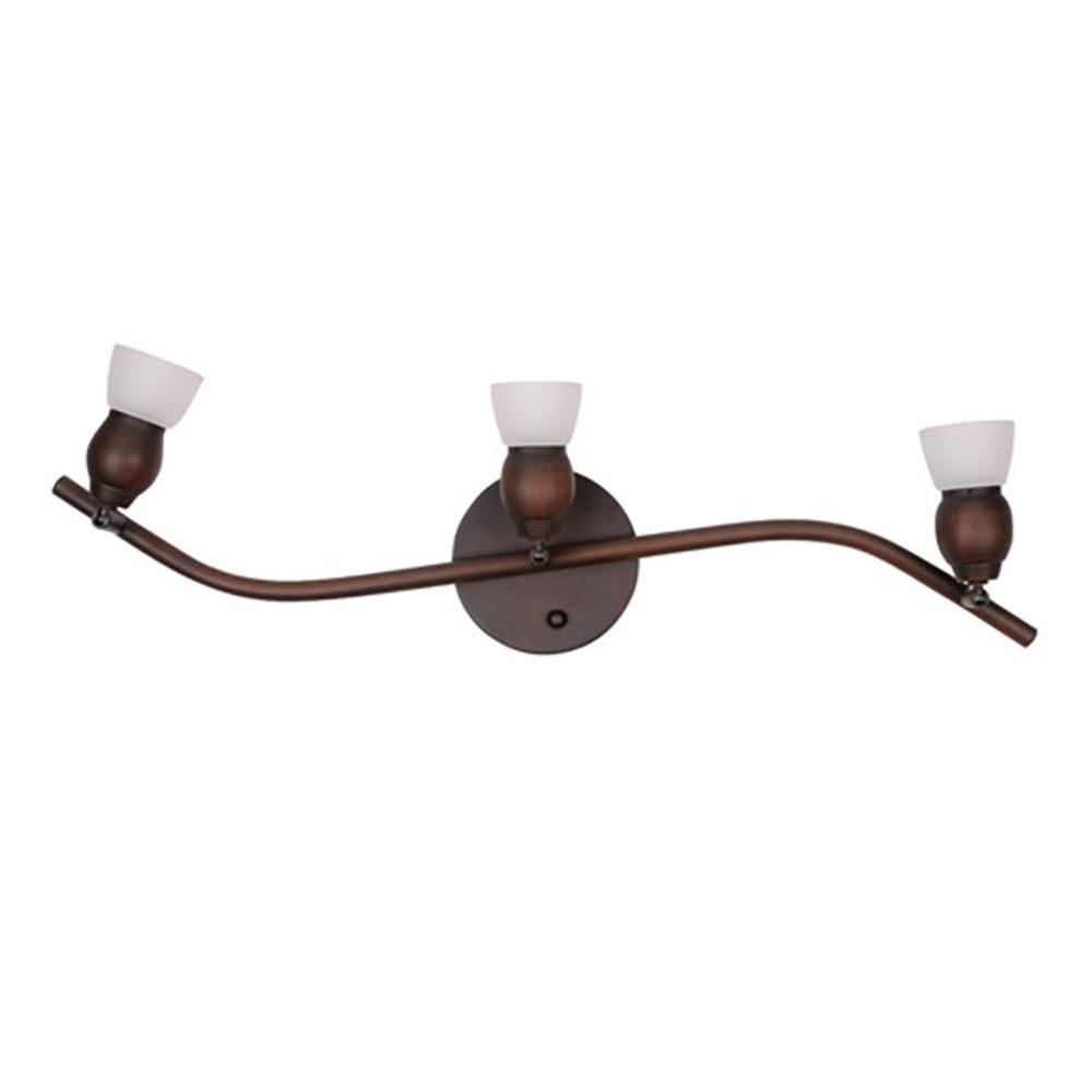 3-Light Oil-Rubbed Bronze Track Lighting Kit