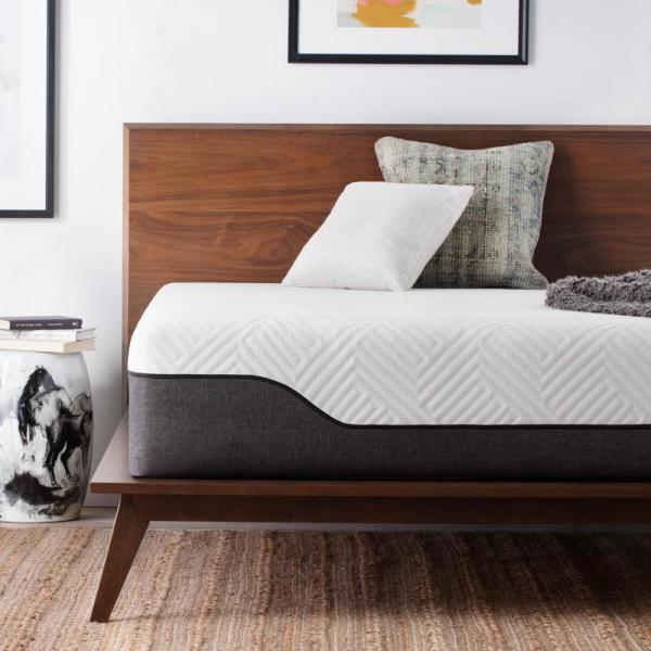 Lucid 12 in. King Bamboo Charcoal and Aloe Vera Hybrid Mattress