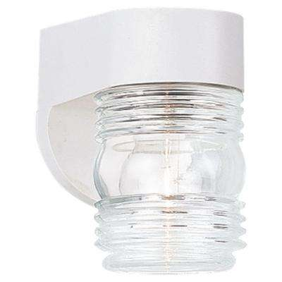1-Light White Outdoor Wall Fixture