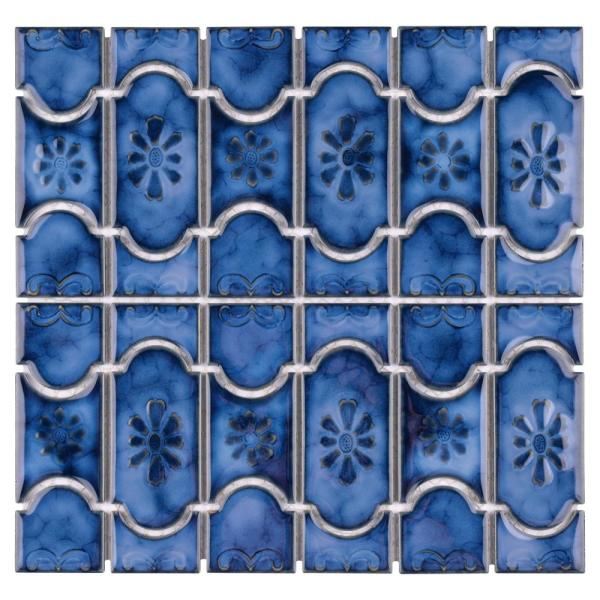 Montego Sapphire 12 in. x 12 in. Porcelain Mosaic Tile (10.84 sq. ft. / Case)