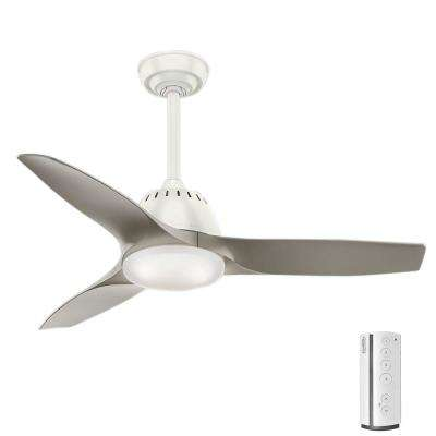 Casablanca remote control included ceiling fans lighting the led indoor fresh white ceiling fan with remote control aloadofball Images