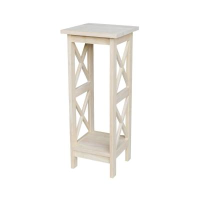 Solid Wood 30 in. H Unfinished Plant Stand