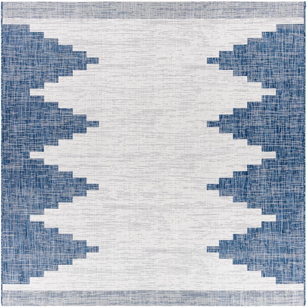 Artistic Weavers Lageli Navy 7 Ft 10 In Square Indoor Outdoor Area Rug S00161039740 The Home Depot