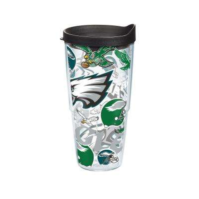 NFL Philadelphia Eagles All Over 24 oz. Double Walled Insulated Tumbler with Travel Lid