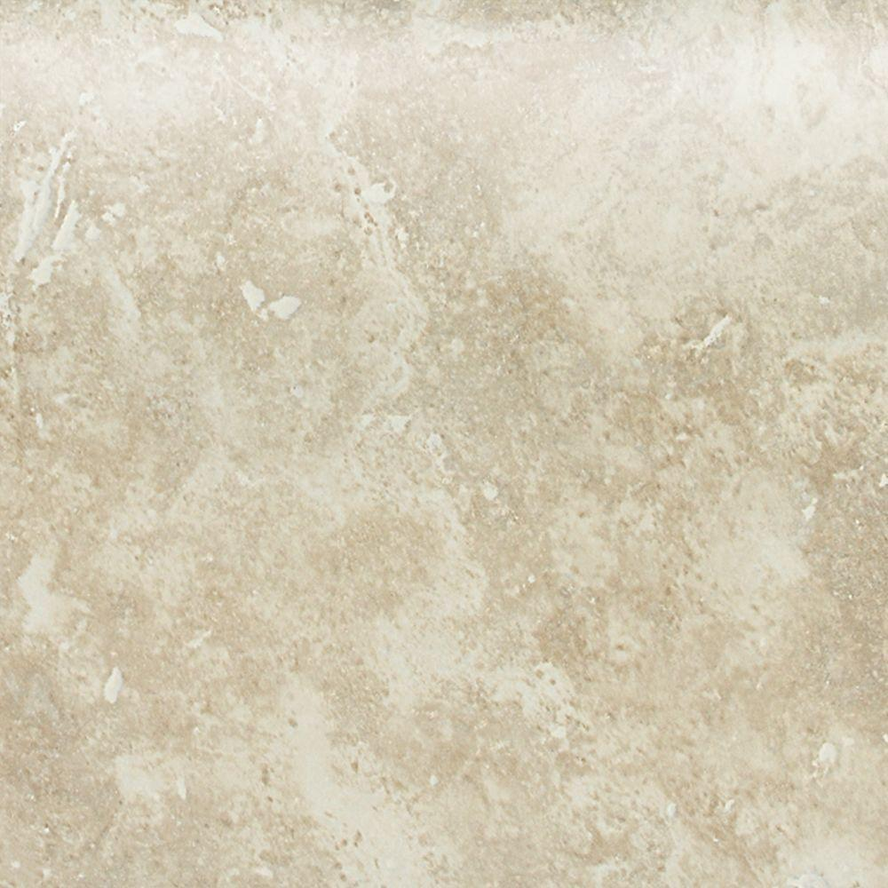 Daltile Heathland White Rock 4 in. x 4 in. Glazed Ceramic Bullnose Wall Tile