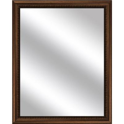 Medium Rectangle Gold Art Deco Mirror (30.75 in. H x 24.75 in. W)