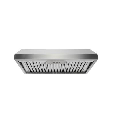 36 in. 800 CFM Under Cabinet in Stainless Steel Range Hood with Stainless Steel Baffles