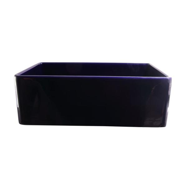 Crisfield Farmhouse Apron Front Fireclay 30 in. Single Bowl Kitchen Sink in Cobalt