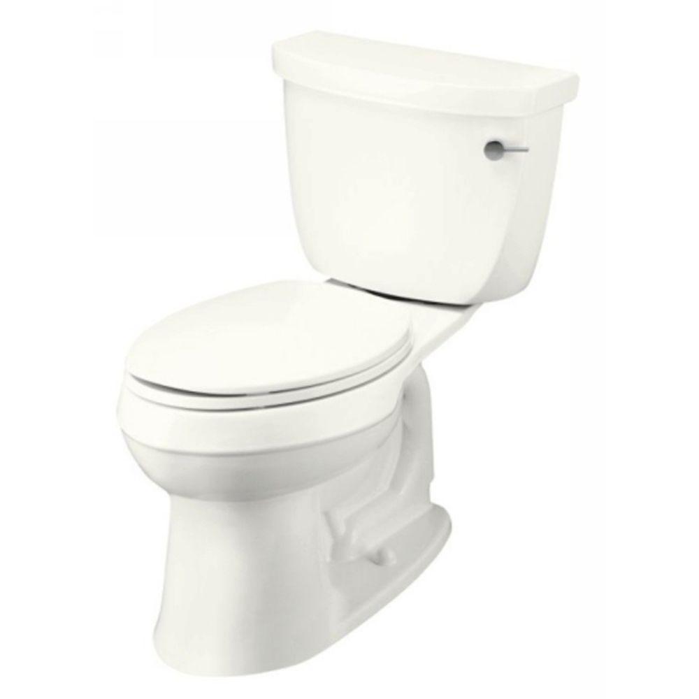 KOHLER Cimarron Comfort Height 2-Piece 1.28 GPF Elongated Toilet in Navy-DISCONTINUED