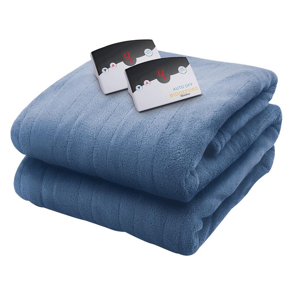 2030 Series Micro Plush Heated 62 in. x 84 in. Arrow Head Blue Twin Blanket