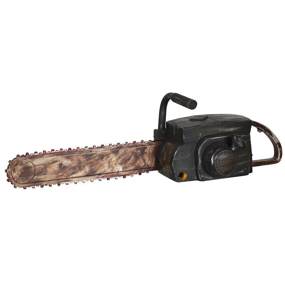 home accents holiday animated rusty chainsaw with sound