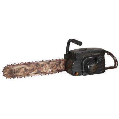 Animated Rusty Chainsaw with Sound
