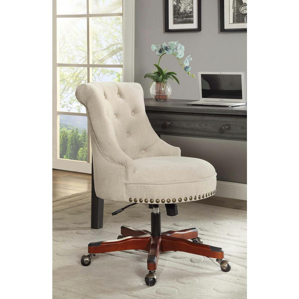 office chairs pictures comfortable linon home decor sinclair natural polyester office chair