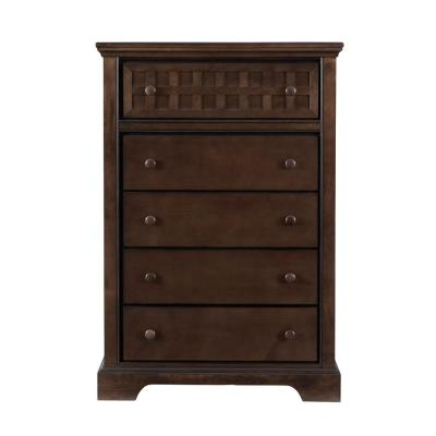 Casual Traditions 5-Drawer Walnut Chest of Drawers