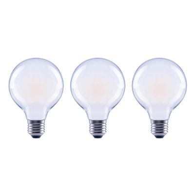 60-Watt Equivalent G25 Dimmable ENERGY STAR Frosted Glass Filament Vintage Edison LED Light Bulb Bright White (3-Pack)