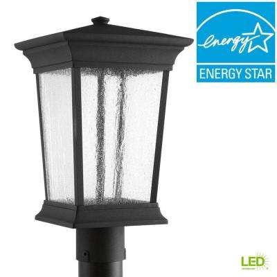 Arrive Collection 1-Light Black LED Outdoor Post Lantern