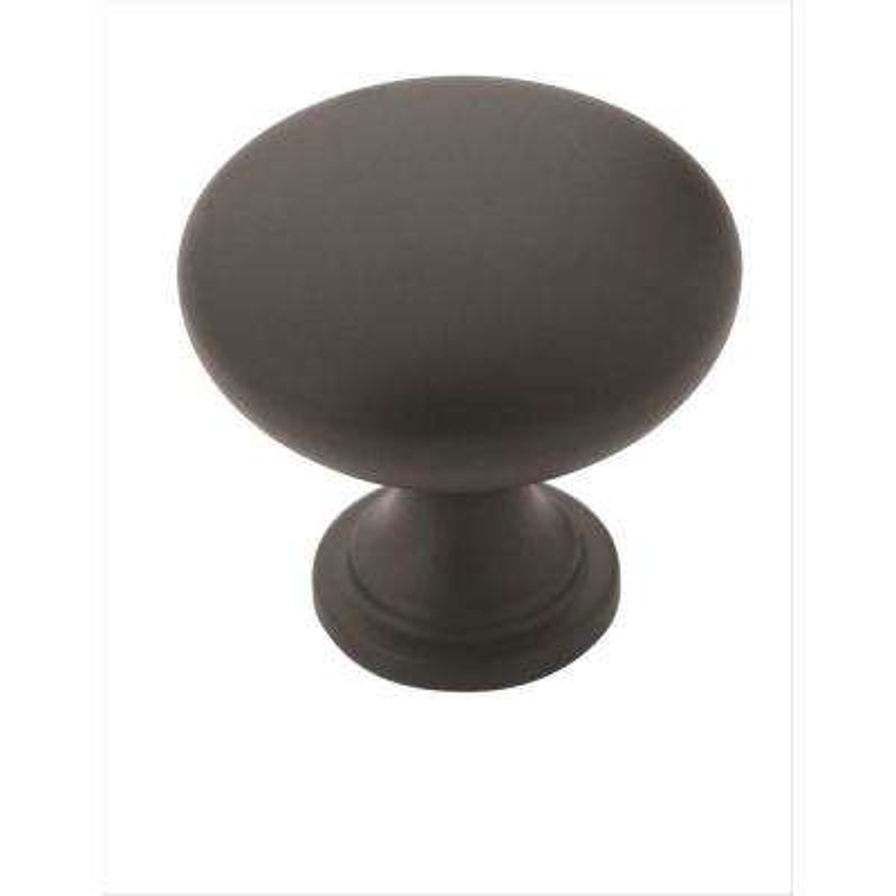 Allison Value 1-1/4 in. (32 mm) Dia Flat Black Cabinet Knob  (10-Pack)