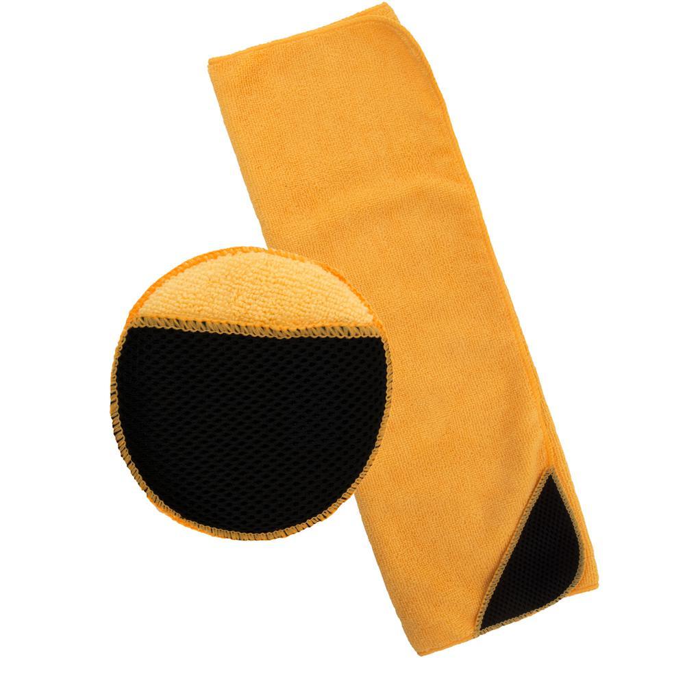 Microfiber Applicator Pad and Towel Set (2-Piece)