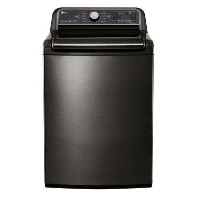 5.2 cu. ft. High Efficiency Black Stainless Top Load Washer with Steam and TurboWash, ENERGY STAR