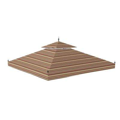 Standard 350 Stripe Canyon Replacement Canopy for 10 ft. x 10 ft. Arrow Gazebo