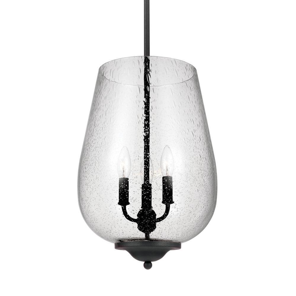 Edison Light Bulbs Home Depot Sea Gull Lighting Morill 3-Light Blacksmith Hall-Foyer ...