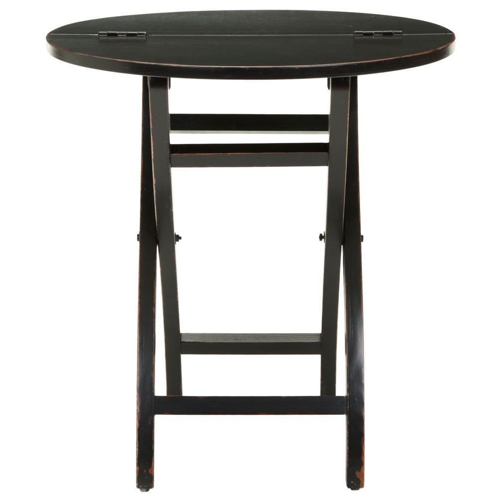 Safavieh ethan black foldable side table