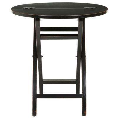 Ethan Black Foldable Side Table