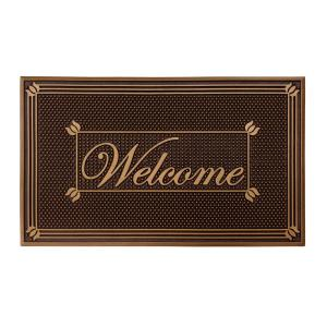 Copper Painted 18 inch x 30 inch Rubber Indoor/Outdoor Welcome Mat by